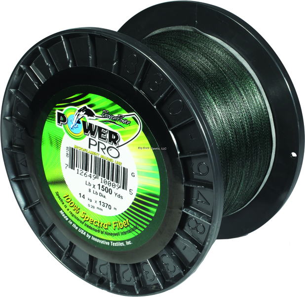 NEW  Power Pro Spectra Fiber Braided Fishing Line, Moss Green, 500Y 21100300500E