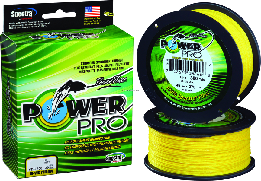 NEW  Power Pro Spectra Fiber Braided Fishing Line, Hi-Vis Yellow, 3 21100150300Y