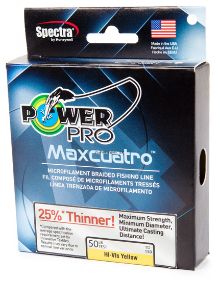 NEW  Power Pro 33400803000Y Maxcuatro Braided Fishing Line, 80 lb 3 33400803000Y